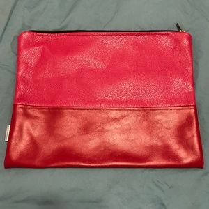 Madison Elizabeth Co. Bags - Hot Pink & Red Portfolio Clutch